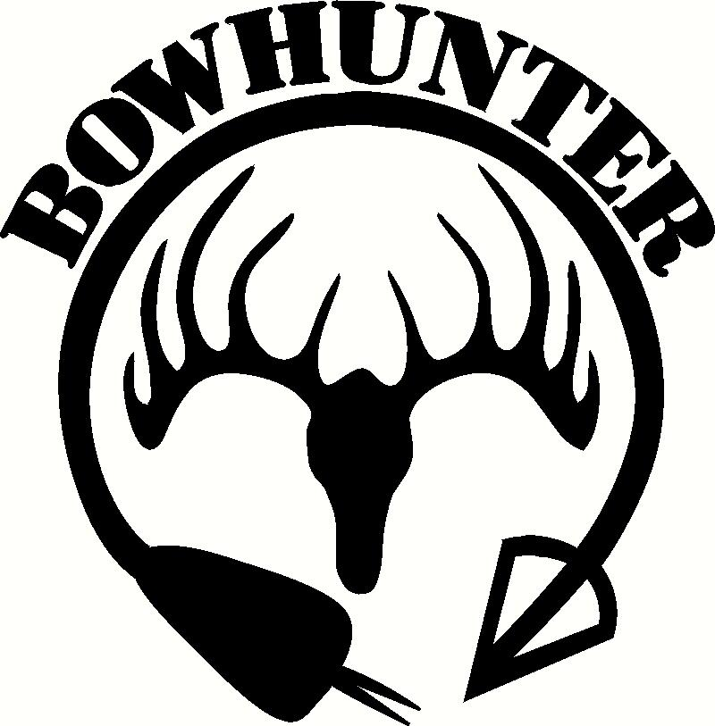Drawn hunting deer logo Vinyl hunting Vinyl Clipartix clipart