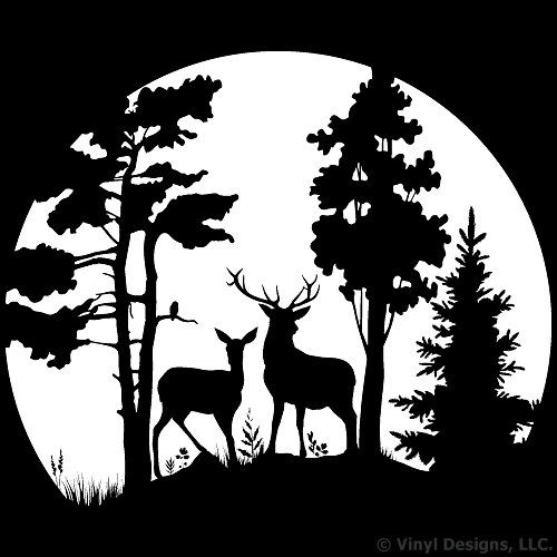 Drawn buck black and white Buck Hunting in Deer and
