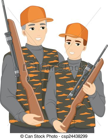Hunting clipart father and son #7