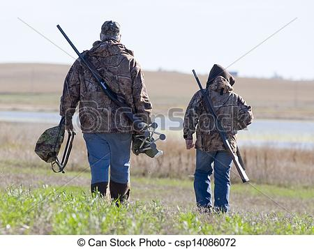 Hunting clipart father and son #5