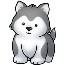Drawn husky adorable Husky walking clipart collection Cute