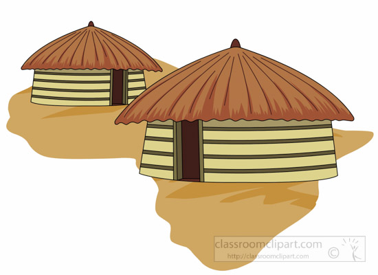 Hut clipart Africa Search Results for hut