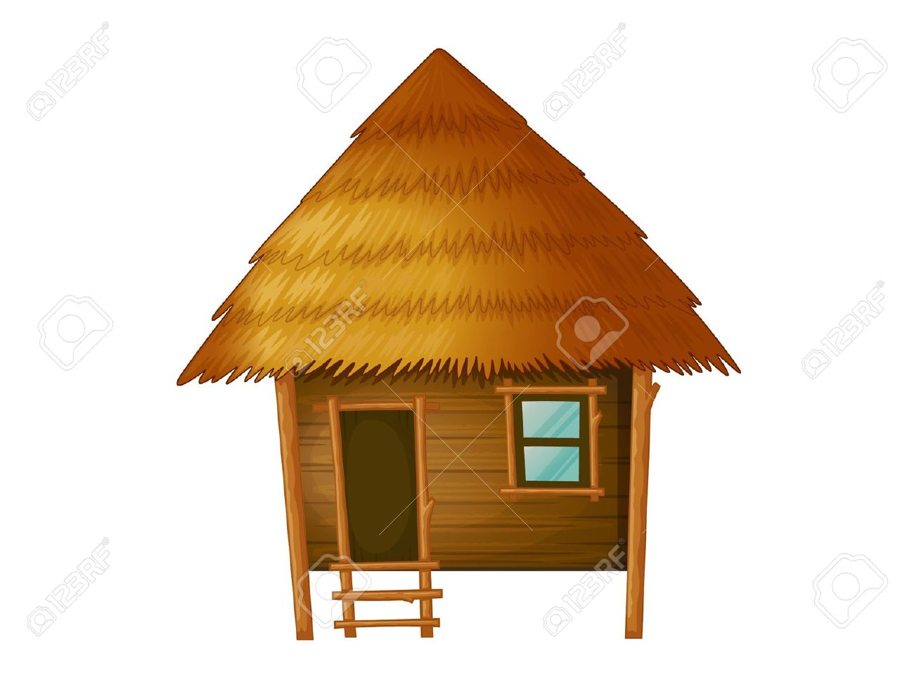 Cottage clipart bamboo house Download clipart Hut Download clipart