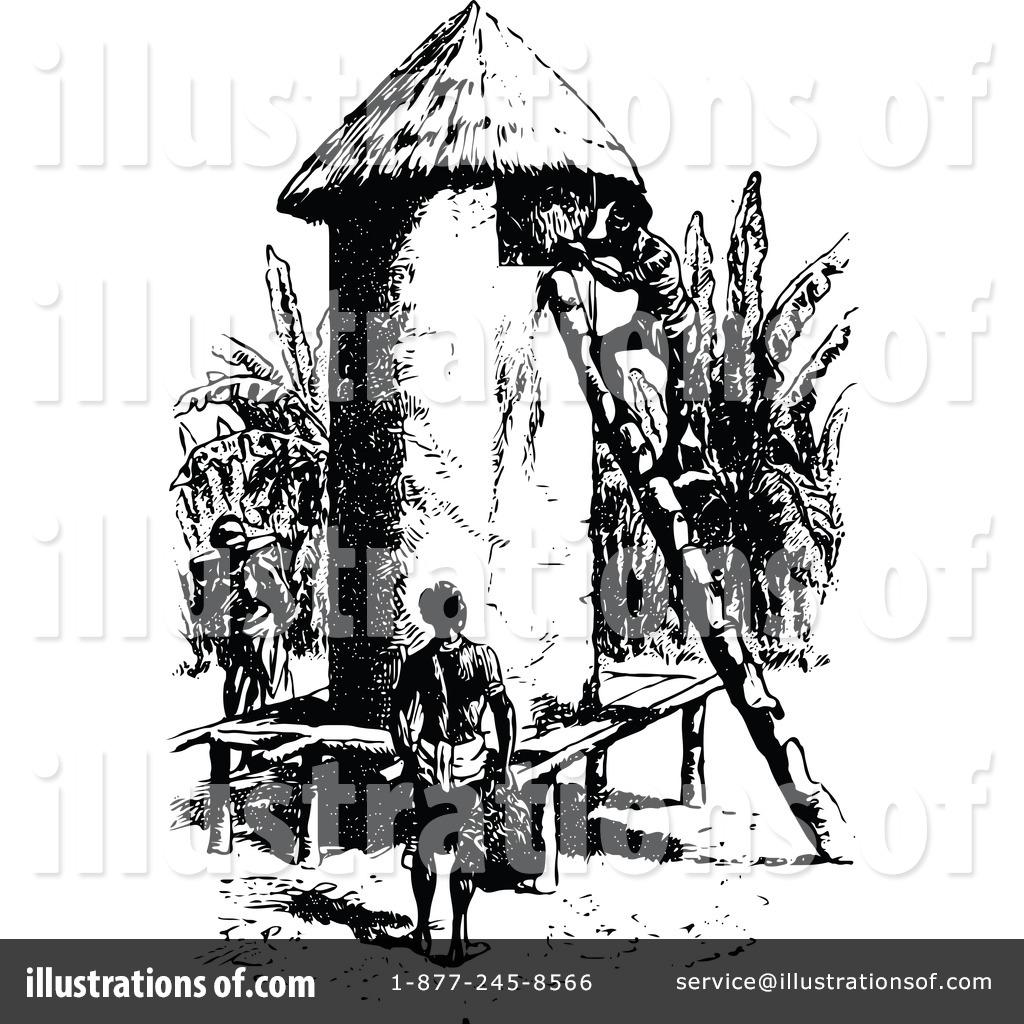 Aboriginal clipart hut #2