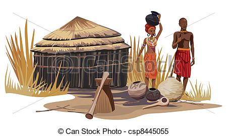 Clipart csp8445055 African and man