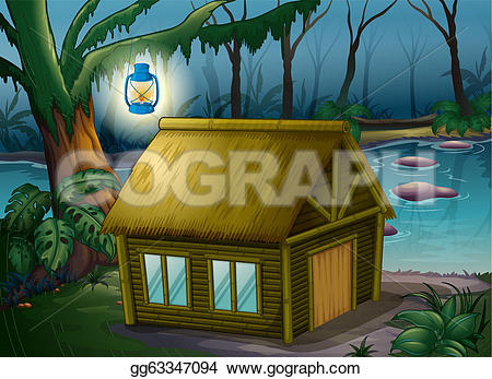 Hut clipart bamboo house #3