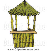 Hut clipart bamboo house #4