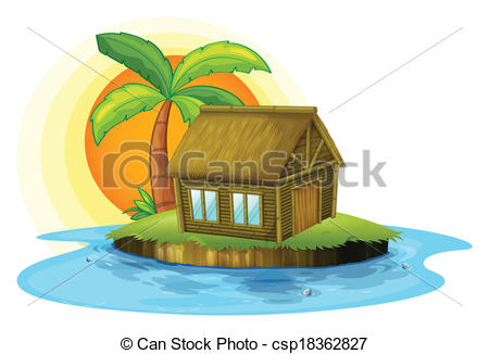 Hut clipart bamboo house #2