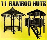Hut clipart bamboo house #5