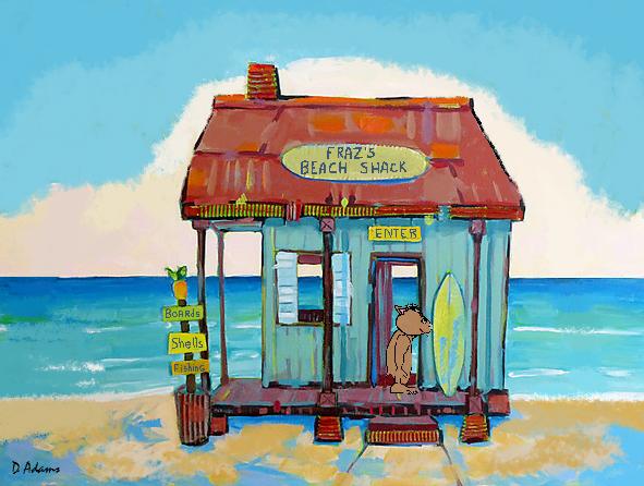 Hut clipart beach shack #7
