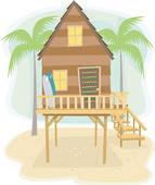 Hut clipart beach shack #9