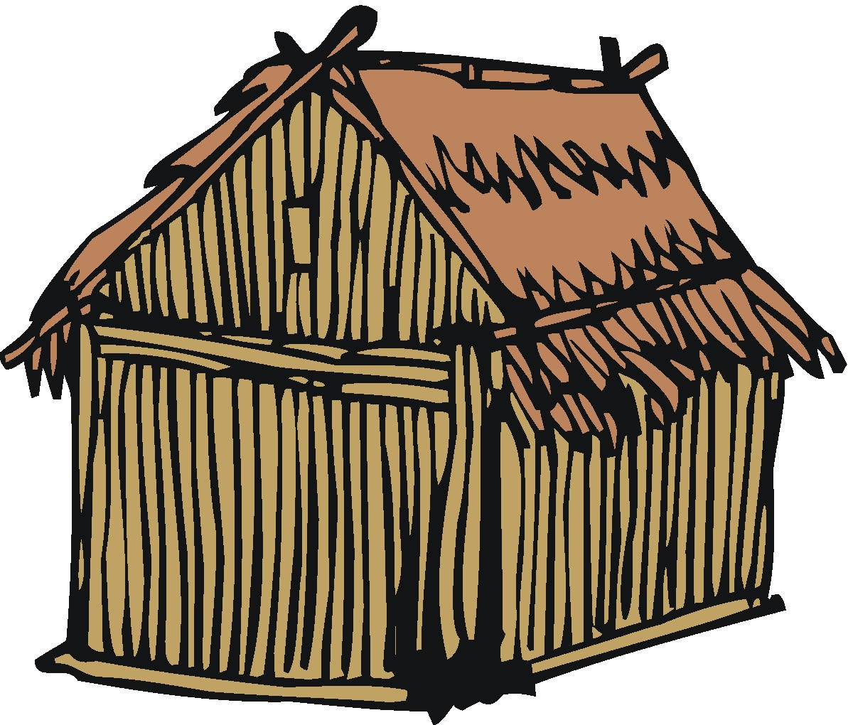 Old House clipart straw hut #3