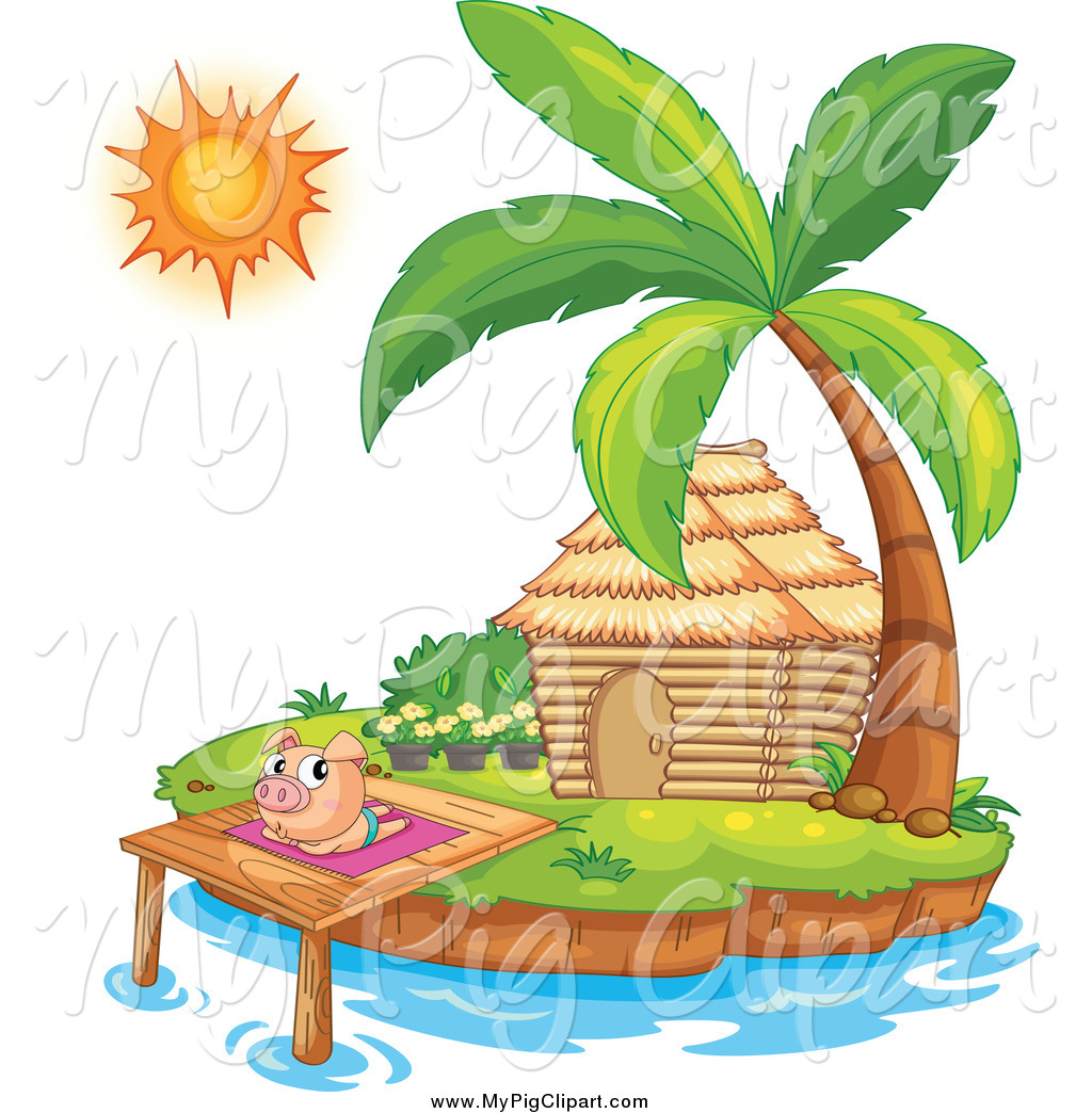 Bungalow clipart hut By Clipart by a Sun