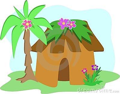Hut clipart cabana Palm Clipground hut tree clipart