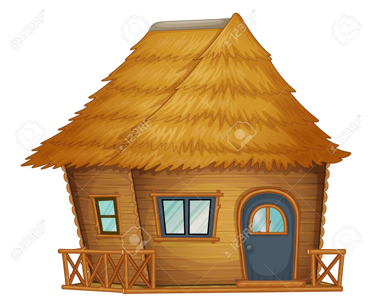 Old House clipart straw hut #1