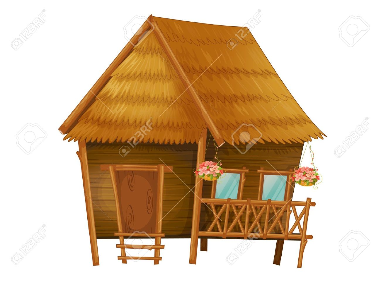 Shack clipart brown house Hut #15 clipart Hut drawings