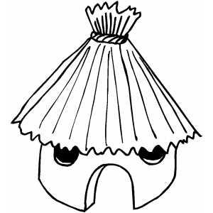 Hut clipart coloring #6