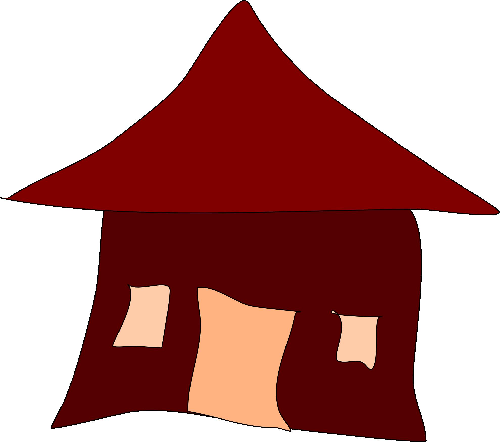 Hut clipart coloring #8