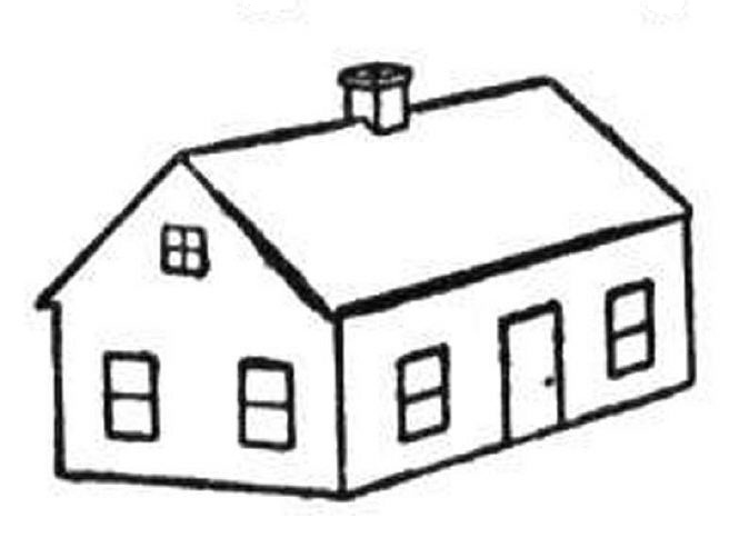Hut clipart coloring #12