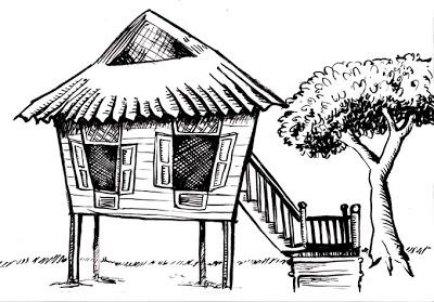 Hut clipart coloring #9