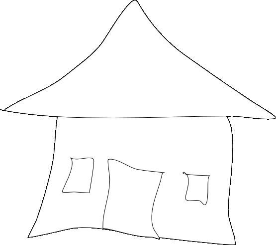 Hut clipart coloring #5