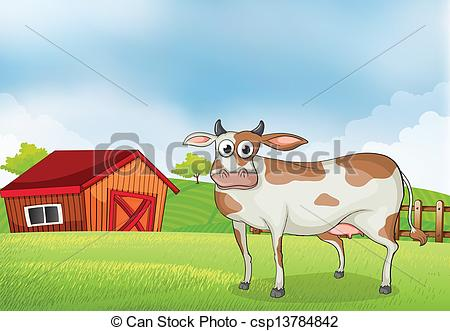 Ranch clipart cow house In with wooden coconut at