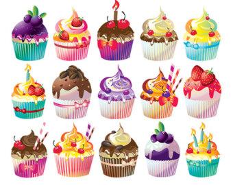 Sweets clipart mini cupcake Clip illustration art download cupcake