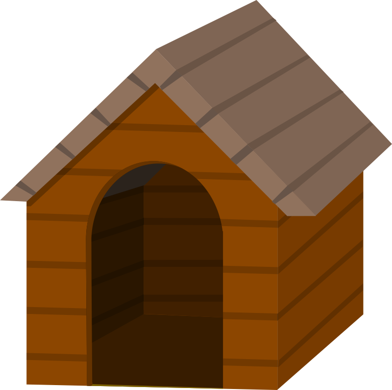 Hut clipart dog Clip Doghouse Art Free Brown