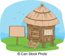 Hut clipart grass hut Stock a the Illustration in