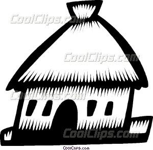 Hut clipart grass hut Vector grass art huts grass