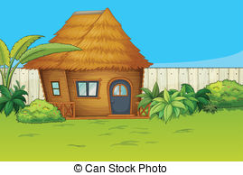 Hut clipart inside In Clip and a house