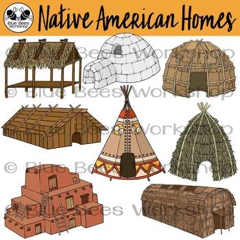 Hut clipart native american #12