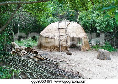 Hut clipart native american #15