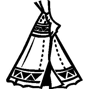 Hut clipart native american #6