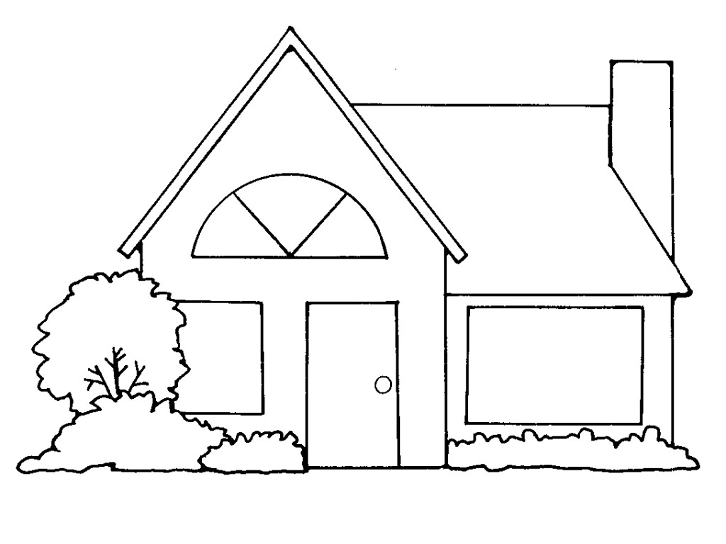 Mansion clipart building outline Clipart Clipart White Outline Black