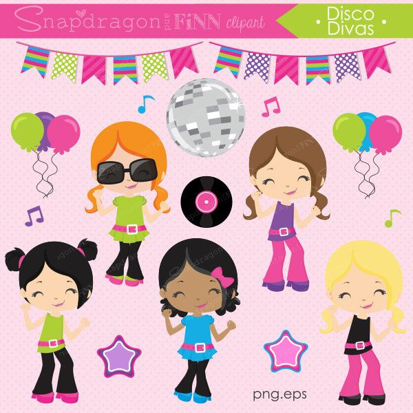 Hut clipart pink party Pinterest about Dance images Disco