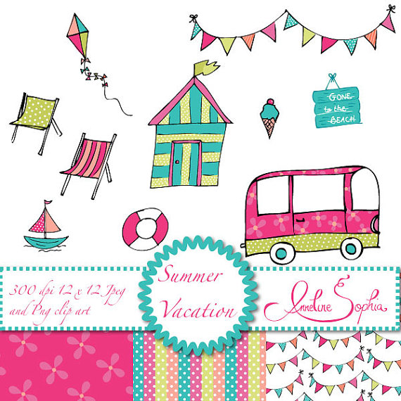 Hut clipart pink party Clipart Party Clipart Beach Van