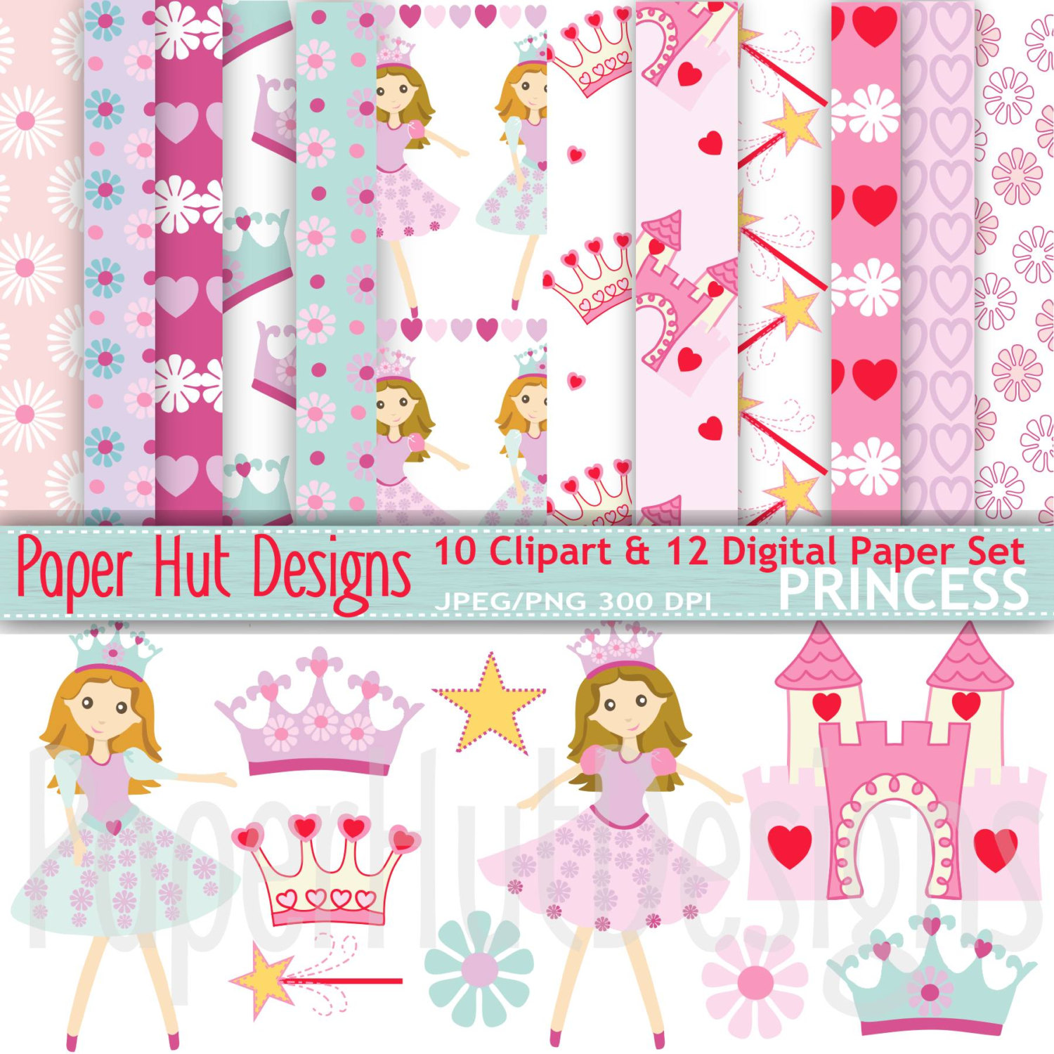 Hut clipart pink party  a Art Papers Princess