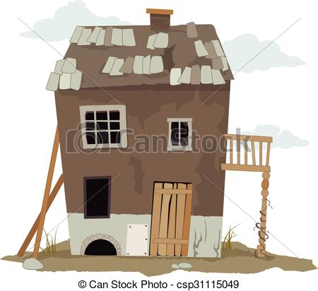 Favela clipart house Cabin down Vector csp31115049 Old