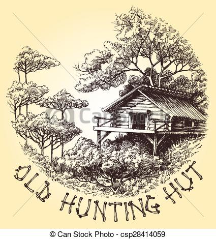 Hut clipart round In decoration hut vector hunting
