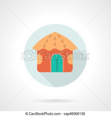 Hut clipart round Flat vector Vectors round Red
