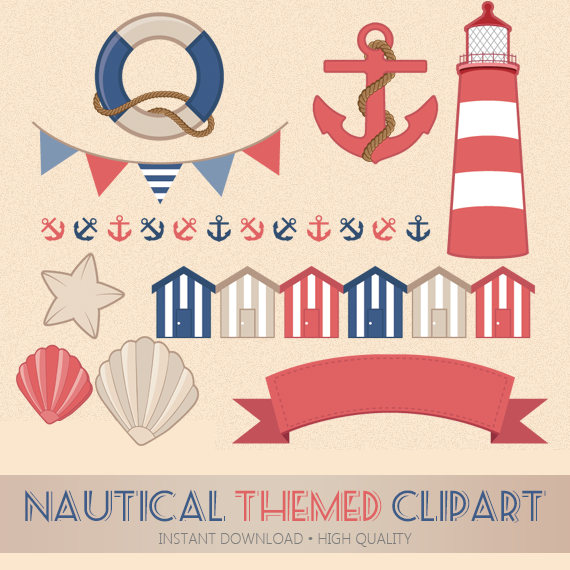 Lighthouse clipart seaside High digital a Clipart Beach