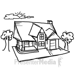 White House clipart stick house Drawing Clipart 11948 ID# Sky