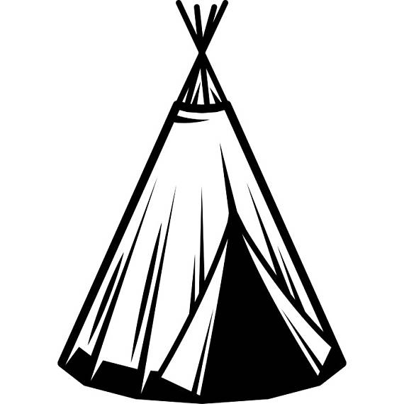 Native American clipart indian hut American Vector Native Tee Home