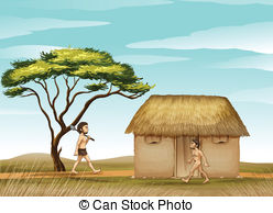 Hut clipart thatched #2