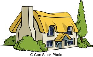 Hut clipart thatched #3