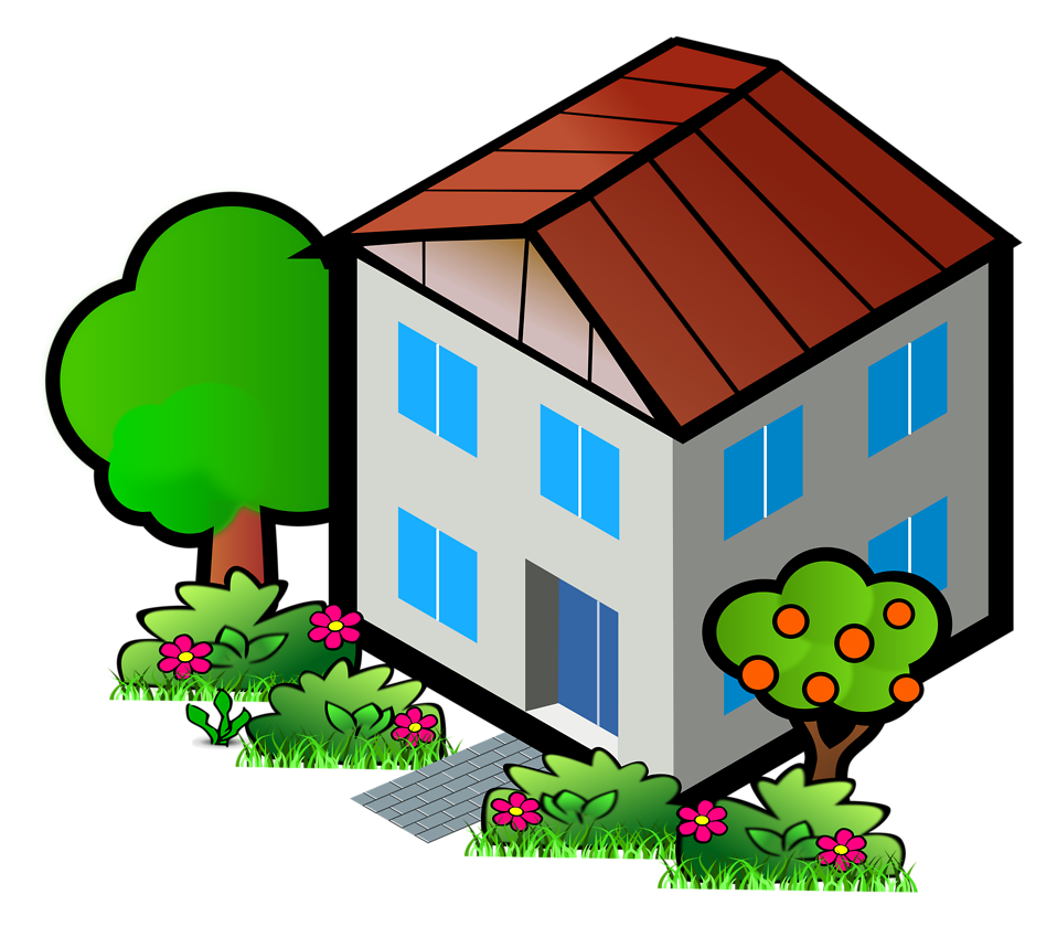 House clipart big and small House clipart Background com Hut