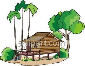 Hut clipart tropical Panda Clipart Tropical Clipart Clipart