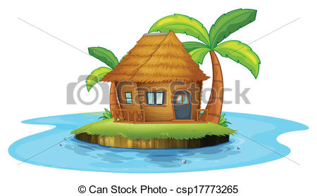 Islet clipart landform With Clip hut with An
