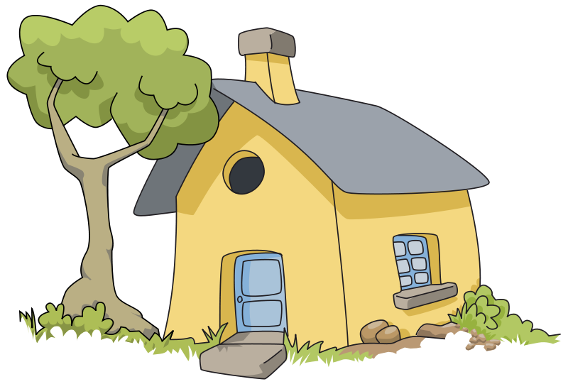Bungalow clipart little house Black cliparts Home and 65